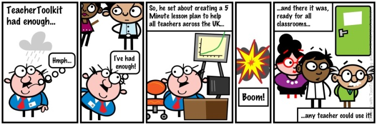The 5 Minute Lesson Plan in cartoon