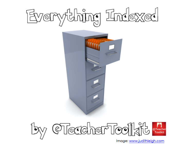 Everything Indexed by @TeacherToolkit