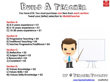 Build A Teacher by @TeacherToolkit