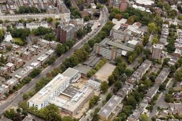 Quintin Kynaston QK for the air aerial shot building site premises location Finchley Road Malborough Primrose Hill London