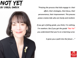 The Power of Not Yet Carol Dweck