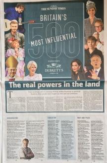Debrett's 500 The Sunday Times Award Nomination Newspaper Ross Morrison McGill education