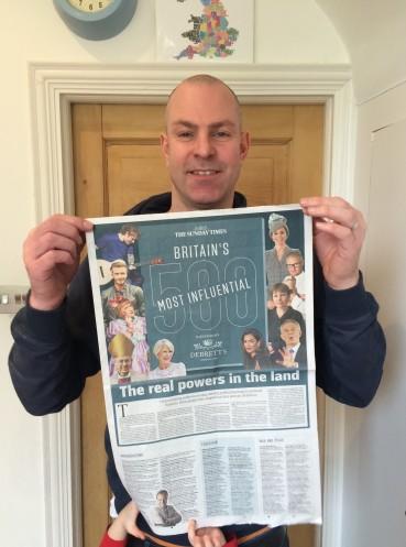 Debrett's 500 The Sunday Times Award Nomination Newspaper Ross Morrison McGill education Freddie @TeacherToolkit