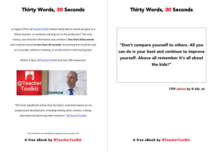 Thirty Words in 30 Seconds by @TeacherToolkit