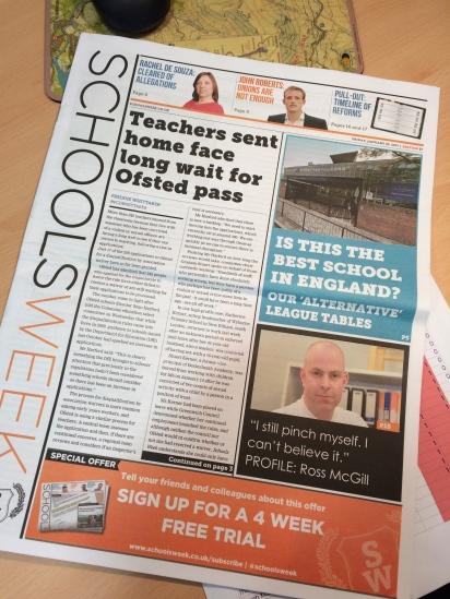 @SchoolsWeek Interview with @TeacherToolkit article publication