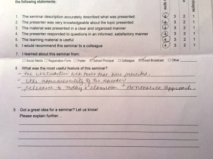 CPD evaluation Canada Vitruvian Teacher