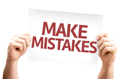 shutterstock Make Mistakes card isolated on white background