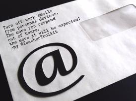 Turn Off Work Emails by @TeacherToolkit